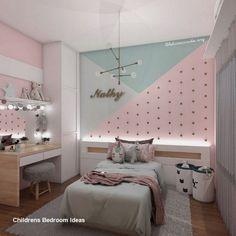 Cute Bedroom Ideas, Room Ideas Bedroom, Cozy Bedroom, Girl Bedroom Walls, Girl Room, Childrens Room Decor, Baby Room Decor, Bedroom For Girls Kids, Girls Bedroom Ideas Paint