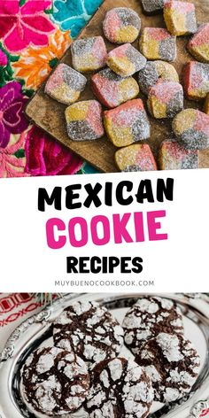 No matter what the occasion, here are the best Mexican cookies to try. Favorites include Biscochos, Mexican Hot Chocolate Cookies, Cowboy Cookies, Double Pecan Thumbprint Cookies, and Polvorones. Bhg Recipes, Mexican Food Recipes, Cookie Recipes, Dinner Recipes, Bueno Recipes, Mexican Cookies, Mexican Hot Chocolate, Good Food, Yummy Food