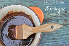 Homemade Maple Cider Barbeque Sauce It is summer grilling time and I could not put it off any longer. My mission: to make my own delicious barbeque sauce. I had a chicken waiting in my fridge and . Homemade Barbeque Sauce, Homemade Ketchup, Homemade Sauce, Barbecue Sauce, Homemade Bbq, Paleo Sauces, Bbq Sauces, Marinade Sauce, Whole Food Recipes