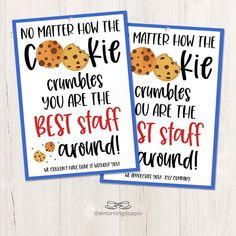 Staff Appreciation Gifts, Staff Gifts, Teacher Treats, Teacher Gifts, Teacher Morale, Team Morale, Staff Morale, Thank You Gifts, Coworker Thank You Gift