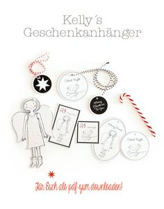Free printable angel and bird Christmas gift tags from Les Tissus Colbert… Noel Christmas, Christmas Gift Tags, Free Printable Tags, Free Printables, Origami, Shabby Chic Christmas, Free Prints, Christmas Printables, Christmas Tree Decorations