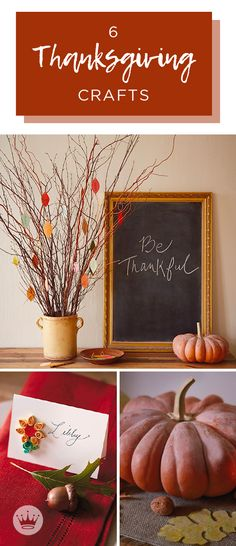 Set a seasonal scene (and table) with our Thanksgiving crafts. Includes craft ideas to create your own Thanksgiving centerpieces, place cards and more. Tree Centerpieces, Thanksgiving Centerpieces, Thanksgiving Crafts, Fall Crafts, Table Decorations, Thankful Tree, Pumpkin Leaves, Thanksgiving Celebration, Activities For Kids