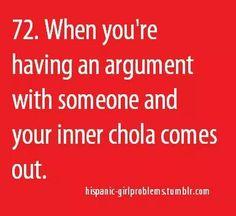 It be like that sometimes lol my inner chola