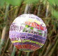 mosaic bowling balls   Lagniappe Mosaic - #196 - Garden Tree Art/Orbs