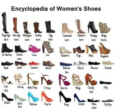 different kind of shoe & their names...