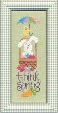 Items similar to Think Spring - Lizzie Kate Cross Stitch Pattern - Bunny Cross Stitch Pattern - Easter Cross Stitch - Spring Cross Stitch on Etsy Cross Stitch Material, Cross Stitch Kits, Counted Cross Stitch Patterns, Cross Stitch Designs, Cross Stitch Embroidery, Lizzie Kate, Easter Cross, Cross Stitch Pictures, Cross Stitching