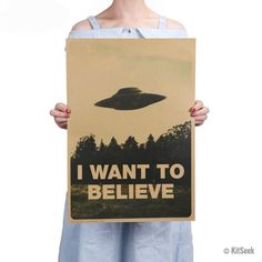 Classic X Files 'I Want To Believe' Poster