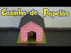 Como fazer Casinha de cachorro de papelão - YouTube