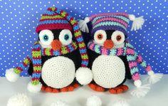 Pendleton and Penelope Penguin Amigurumi Crochet Pattern (5.00 USD) by mojimojidesign