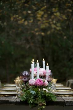 5 tips for an romantic inspired Christmas table setting