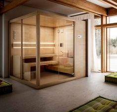 """""""Arja"""" Finnish #Saunas stands out for the extensive range of dimensions that make it possible to choose the perfect Sauna environment for your very own #Spa at Home."""