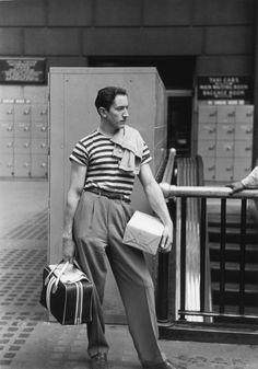 Ruth Orkin, David at Penn Station