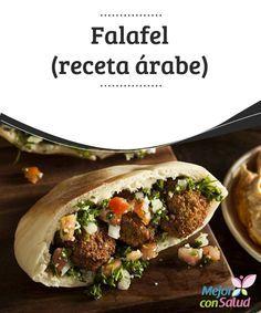 Falafel (receta árabe)  El falafel es una de las preparaciones más consumidas en los países árabes y posiblemente, uno de sus elementos emblema en el resto del planeta cuando a gastronomía se refiere. Chickpea Recipes, Veggie Recipes, Vegetarian Recipes, Healthy Recipes, Middle East Food, Middle Eastern Recipes, Lebanese Recipes, Greek Recipes, Empanadas