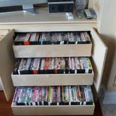 Pull Out Dvd Storage Solution , DVD Storage Solution Ideas In Storage And Organization Category