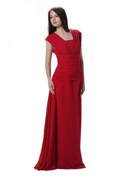 Whatabeautifullife Women's Satin Chiffon Square Neck Cap Sleeve Floor-Length Mother of the Bride Dress Size 22W Color Red Whatabeautifullife,http://www.amazon.com/dp/B00CECN50O/ref=cm_sw_r_pi_dp_nRg3sb1RAFJ50XRF