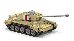 A34 Comet tank ditigal LEGO model timelapse