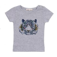 Tiger head T-shirt by Hundred Pieces from Smallable reduced from $24.17 to $16.92
