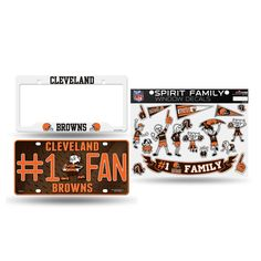 Cleveland Browns NFL 3 Piece Auto Family Pack