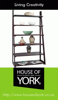 House of York's a-frame racking comes in various colours and woods and has 6 shelves - a perfect addition to any lounge. House Of York, Ladder Bookcase, Decorative Items, Shoe Rack, Bamboo, Household, Shelves, Frame, Creativity