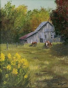 The Old Cow Barn Canvas Print / Canvas Art by Bev Finger