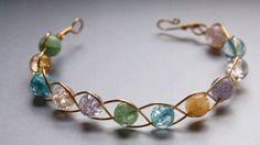 twisted wire bracelet - so pretty and so simple! - Molecule Tattoo - Best Garden Design - DIY Home Accessories - Auburn Hair Styles - DIY Jewelry Inspiration Bohemian Bridal Jewellery, Bridal Jewelry, Beaded Jewelry, Silver Jewelry, Handmade Jewelry, Silver Ring, Jewelry Bracelets, Wrap Bracelets, Silver Earrings
