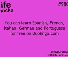 Learn Spanish German french Portuguese italian for free