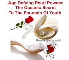 Discover The #1 Secret To Flawless, Wrinkle Free Skin and Longevity - Easy and Unbelievably Affordable. Renowned across the world as a powerful weapon against wrinkles, aging and disease! This is a treasure to behold! Fountain Of Youth, Beauty Secrets, Weapon, Anti Aging, Herbalism, Powder, Pearl, Free, Herbal Medicine