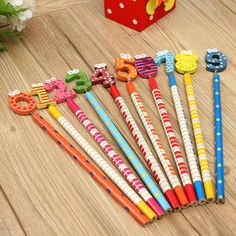 10pcs Lovely Number 0 to 9 Cartoon Cute Set School Pencil Stationery
