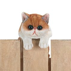 Find Climbing Big Eyed Kitten Giles Décor in the Home & Garden - Yard, Garden & Outdoor Living - Garden Decor - Statues & Yard Art category in Webstore online auctions Scary Haunted House, Haunted House Party, Unique Garden Decor, Unique Gardens, Garden Decorations, Garden Animal Statues, Cat Fence, Halloween Witch Decorations, Kitten Names