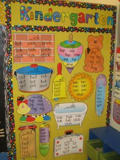 Word Family Bulletin Board:  a great reference that can be used so many ways!