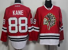Chicago Blackhawks #88 Patrick Kane Red The Indians Skulls Fashion Jersey