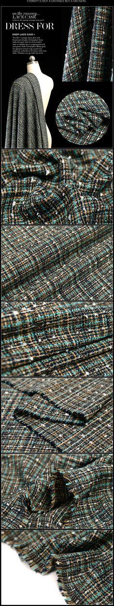 145 см ширина ткани, твид Материал хлопок и вискоза смешивания теплой тканью Бесплатная доставка TCVB142 купить на AliExpress