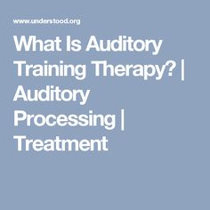 Auditory processing disorder research papers