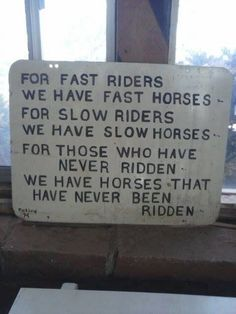 Read before you sign up for your trail ride!