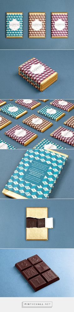 241 GRAMOS DE COMITÉ packaging on Behance curated by Packaging Diva PD. Think about your customers this holiday with a limited edition gift of chocolate : )