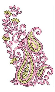 Leather Embroidery, Indian Embroidery, Embroidery Thread, Blackwork Embroidery, Hand Embroidery Designs, Beaded Embroidery, Machine Embroidery, Embroidery Patterns, Paisley Design