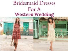 Western Wedding Bridesmaid Dresses