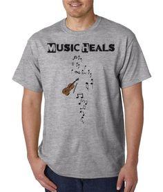 Music heals...men's shirt