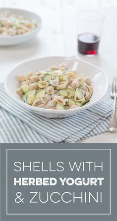 Learn how to make delicious Shells with Herbed Yogurt and Zucchini straight from the experts at Jovial Foods. Food Inc, Healthy Food, Healthy Recipes, Gluten Free Pasta, Summer Squash, Nutritious Meals, Recipe Using, Greek Yogurt, Great Recipes