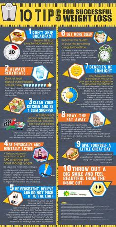 10 tips for successful weight loss infographic & The 8 best weight loss tips (L. - Health Plus - Diet Plans, Weight Loss Tips, Nutrition and Fast Weight Loss, Weight Loss Plans, Healthy Weight Loss, Weight Loss Tips, Losing Weight, Weight Gain, Loose Weight, Reduce Weight, How To Lose Weight Fast