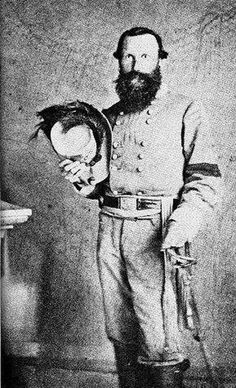 "Note the band on Stuart's left arm. That is a ""Mourning Band."" General Stuart was mourning the loss of ""Stonewall Jackson."" General Stuart had less than a year to live at the time this photograph was taken. Confederate States Of America, America Civil War, Us History, American History, History Channel, Ancient History, Military Art, Military History, Southern Heritage"