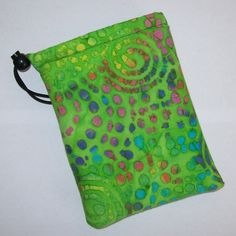 Pipe Pouch Trippy Green Bag Pipe Case Glass Pipe Bag Pipe by PouchAPalooza.com