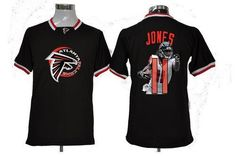 NIKE FALCONS #11 JULIO JONES BLACK MEN'S NFL GAME ALL STAR FASHION JERSEY