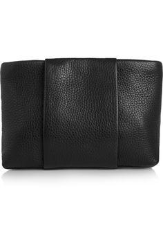 Alexander Wang|Dumbo textured-leather clutch|NET-A-PORTER.COM