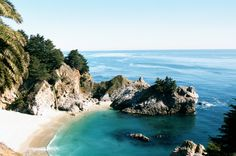 Big Sur - Julia Pfeiffer Beach, McWay Falls ..... been here 1 time, never forgot it..... Was where they filmed a famous scence in the movie From Here To Eternity
