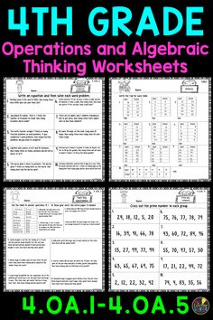 Grade Multiplication And Division Worksheets Fourth Multiplication And Division Worksheets, 4th Grade Multiplication, 8th Grade Math Worksheets, Free Printable Math Worksheets, Homeschool Worksheets, 4th Grade Math Problems, Sixth Grade Math, Word Problems, Fourth Grade