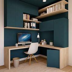 Study Room Design, Home Room Design, Home Office Design, Home Interior Design, House Design, Home Office Layouts, Home Office Setup, Small Home Offices, Bureau Design