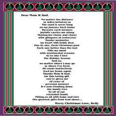 christmas poem for parent