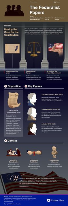 This infographic on The Federalist Papers is both visually stunning and informative!