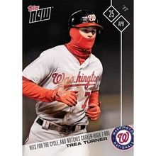 2017 Topps Now #83 Trea Turner Hits for Cycle Washington Nationals